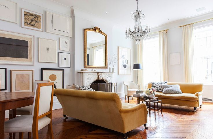 A Tall And Slender Antique Mirror Tops The Mantel In West Village Home Of Alison