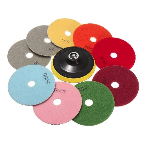 10pcs 4 Inch 50 to 6000 Grit Diamond Polishing Pads for Granite Marble Polish  Worldwide delivery. Original best quality product for 70% of it's real price. Buying this product is extra profitable, because we have good production source. 1 day products dispatch from warehouse. Fast &...