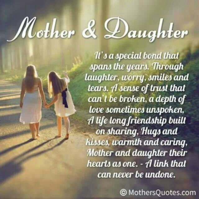 Mother And Daughter Relationship Quotes And Sayings