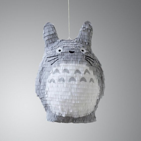 Studio Ghibli Totoro Pinata by owithdoubledots on Etsy, $140.00