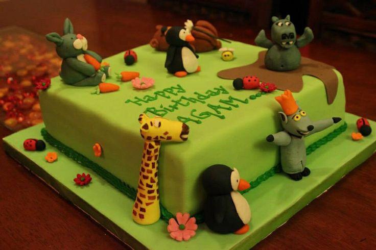 Madagascar theme cake!!
