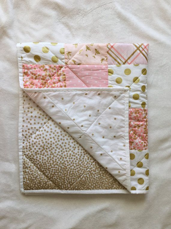 Hey, I found this really awesome Etsy listing at https://www.etsy.com/listing/261029717/baby-blanket-modern-baby-quilt-girl-pink