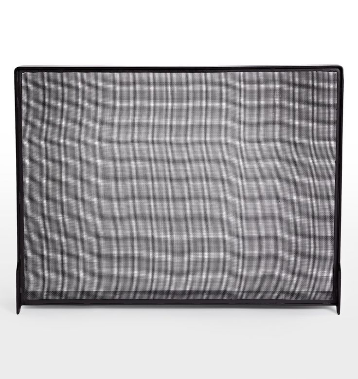 Industrial Fireplace Screen Iron Black E2046