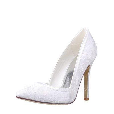 [US$ 45.99] Women's Lace Stiletto Heel Pumps (047115680)