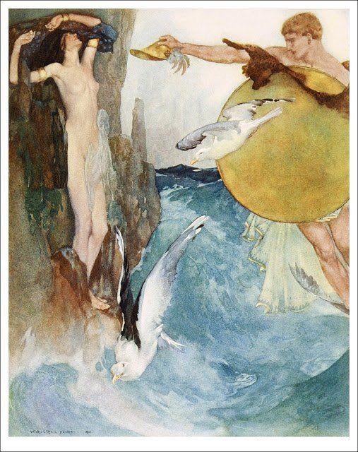 La Odisea de Homero (ilustraciones de William Russell Flint)  #Artesanía #FigurasDeBronce #Morla