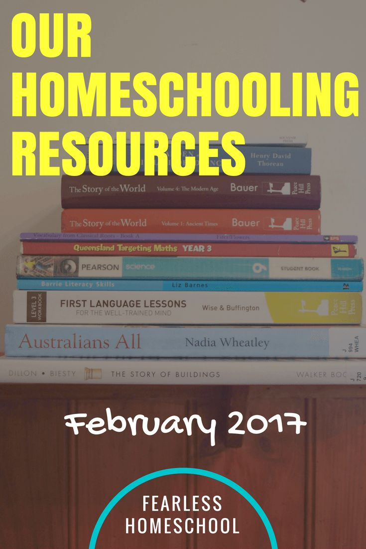 Our Homeschooling Resources, February 2017 - An eclectic, child-led homeschool curriculum from Fearless Homeschool.