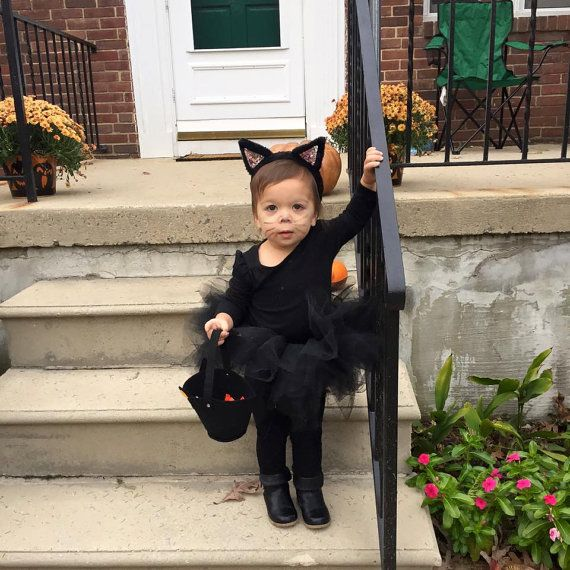 kitty cat outfit halloween kitty costume black cat tutu costume black kitty tutu and ears adorable kitty cat halloween costume - Baby Cat Halloween Costume
