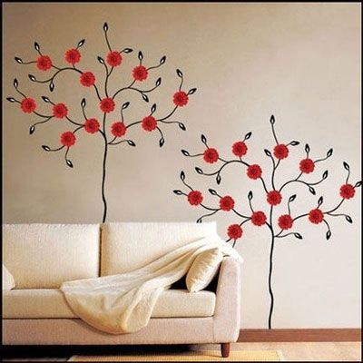 Flowers at the Sofa! Дизайн интерьеров, декорирование стен, роспись