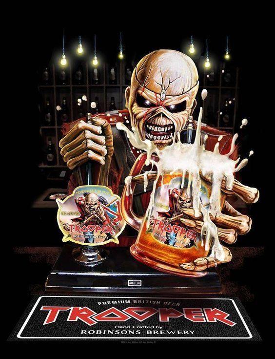 Trooper Stencil Iron Maiden Eddie