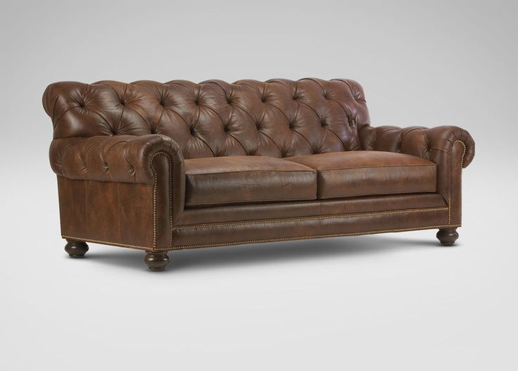 Buy Ethan Allenu0027s Chadwick Leather Sofa or browse other products in Sofas u0026 Loveseats. & 18 best Tuft Love images on Pinterest | Ethan allen Living room ... islam-shia.org
