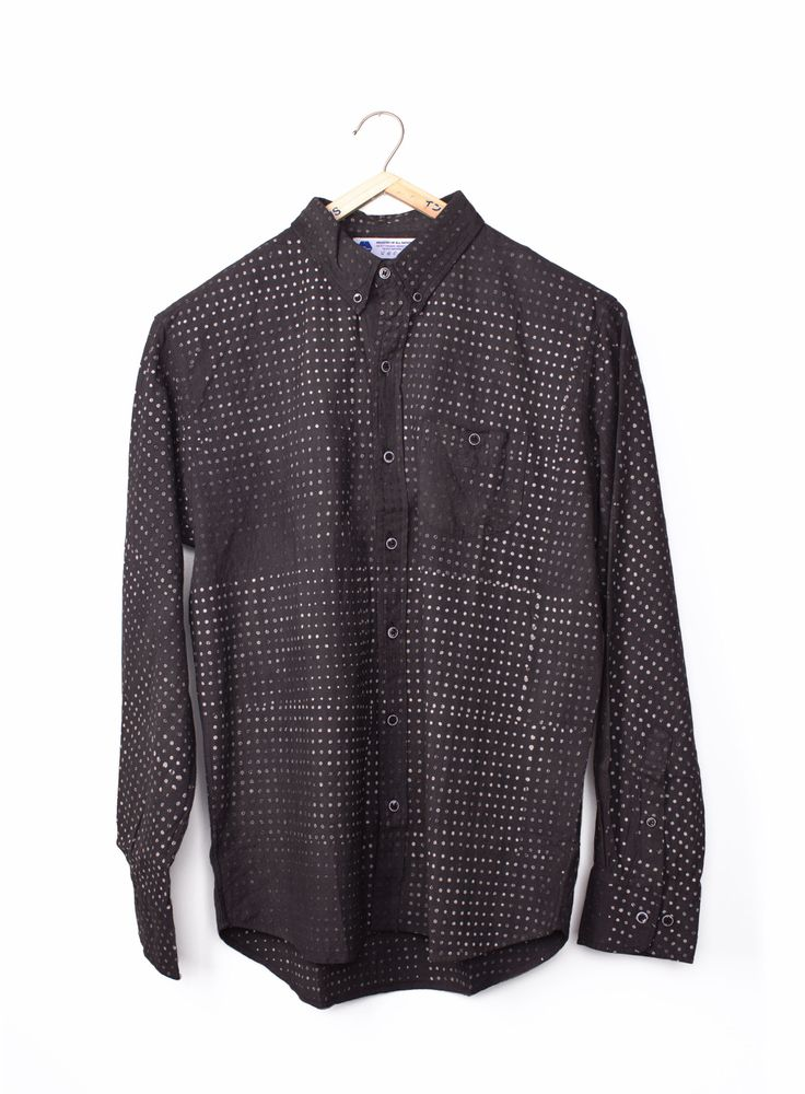 Batik Pixels Madras Shirt heavyweight at INDUSTRY OF ALL NATIONS™ in 8 DI in XS, S, M, L, XL