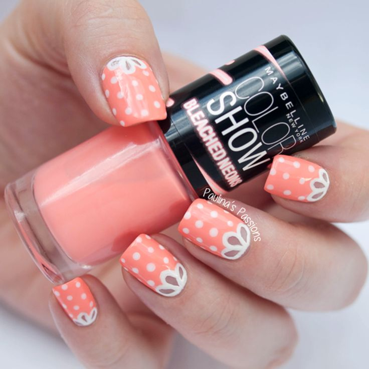 Girly Nails With A Cute Lace Nail Art By Paulinas Passions