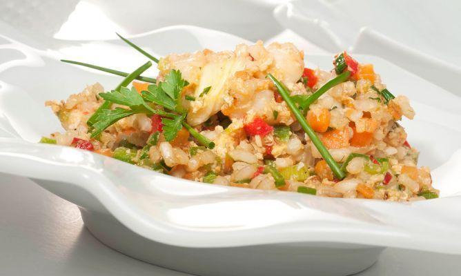 Receta de Arroz integral al wok