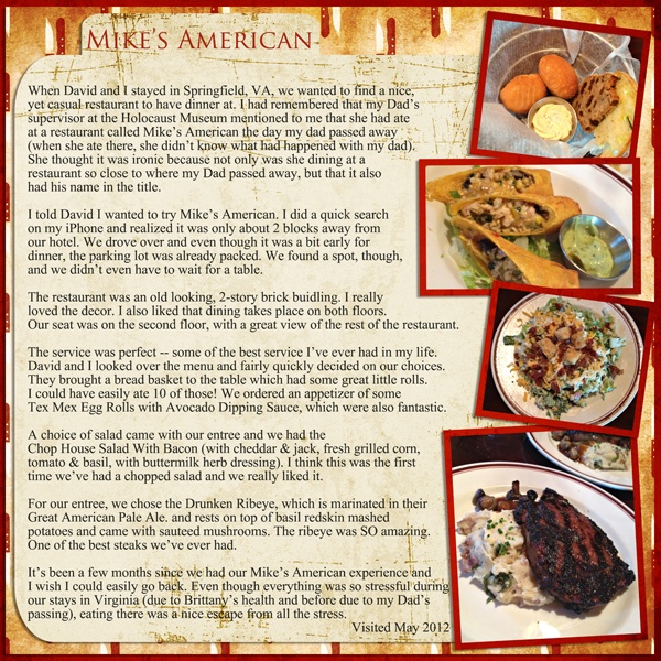97 best food recipe scrapbook layouts images on pinterest mikes american restaurant digital scrapbooking layout digiscrap forumfinder Images