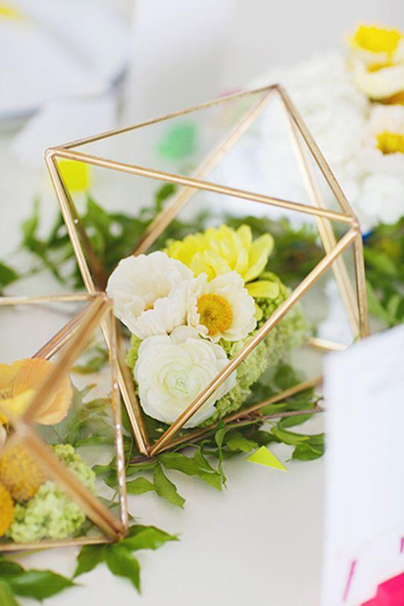 modern floral centerpiece