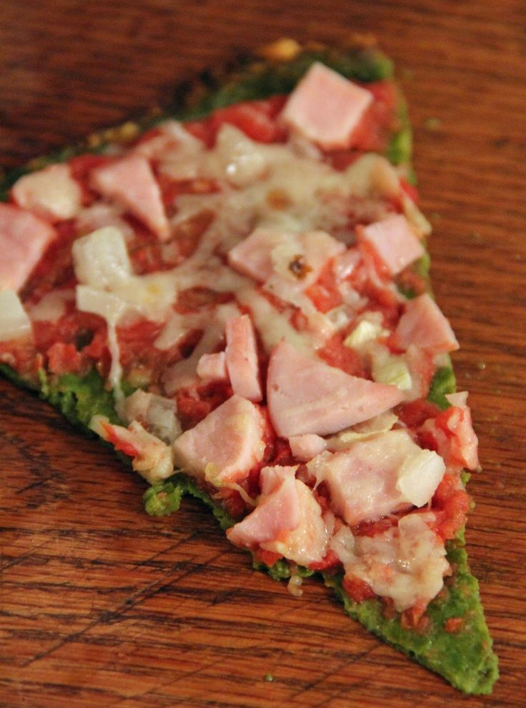 Spinach Crust Pizza- this is AMAZING!!!!!!!! Doesn't have a weird taste like the cauliflower or zucchini crust pizzas and no weird texture like the almond or coconut flour pizzas.