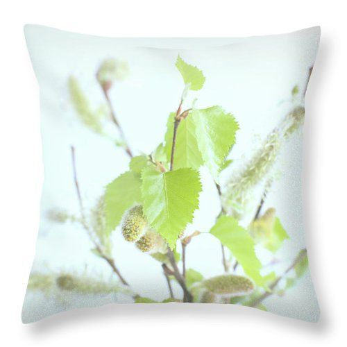 """Spring Bouquet Throw Pillow by Marfffa Art.  Our throw pillows are made from 100% spun polyester poplin fabric and add a stylish statement to any room.  Pillows are available in sizes from 14"""" x 14"""" up to 26"""" x 26"""".  Each pillow is printed on both sides (same image) and includes a concealed zipper and removable insert (if selected) for easy cleaning."""