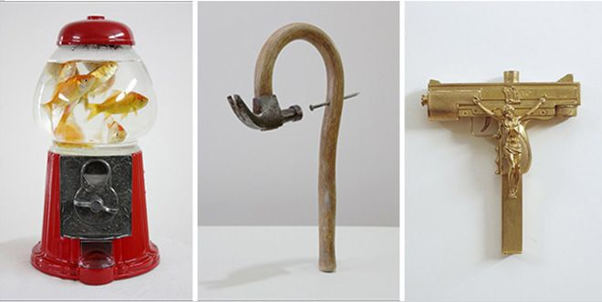 Glass shoes, hairy brushes and buble gum guns by Seyo Cizmic
