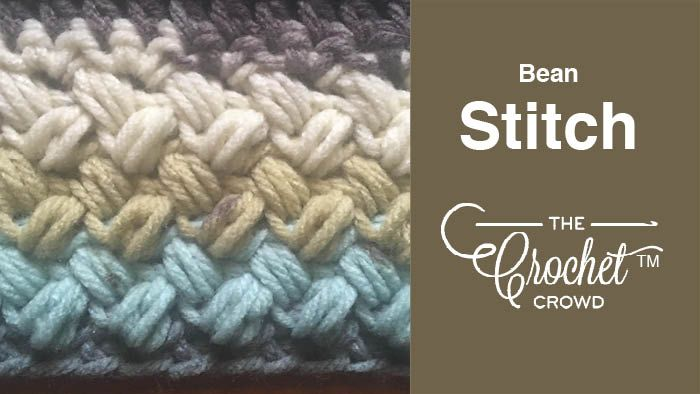 Crochet Bean Stitch + Tutorial | stitches | Crochet stitches