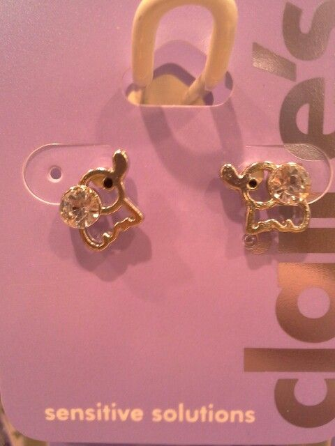Cute Elephant Earrings At Claire S Elephants Pinterest