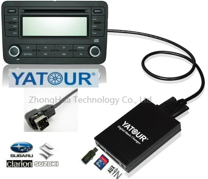 Yatour Digital Music Car Audio USB Stereo Adapter MP3 AUX Bluetooth for Clarion Suzuki Mcintosh interface CD Changer