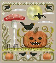 The Floss Box | Halloween Pumpkin Cross Stitch