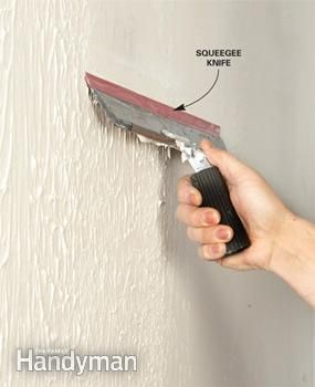 How to Skim Coat Walls | The Family Handyman. I really don't like the texture in the 1/2 bath
