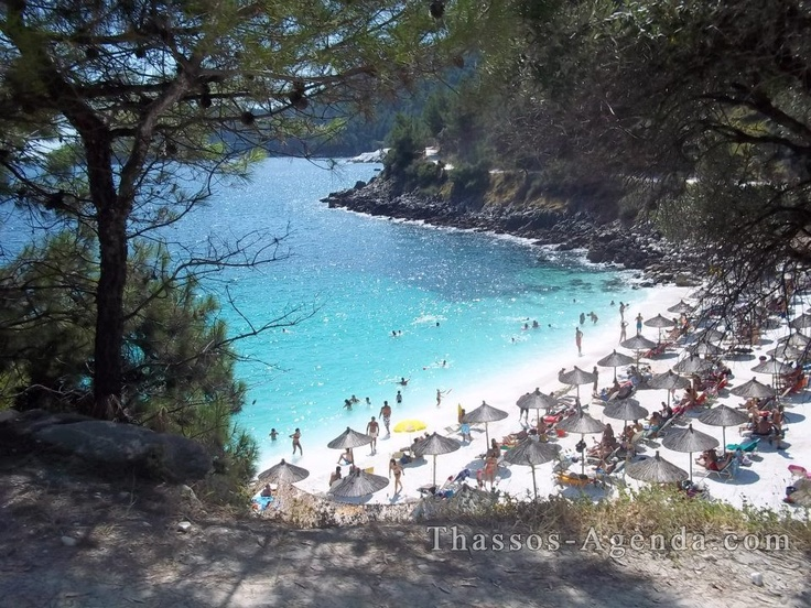Saliara beach on Thassos island in Greece!