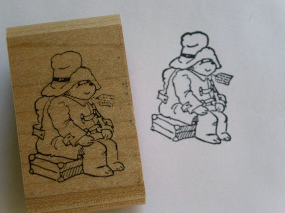 destash paddington bear rubber stamp used bears places and paddington bear. Black Bedroom Furniture Sets. Home Design Ideas