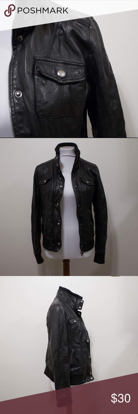 Guess L.A Leather Jacket In great condition! Every girl needs a black leather jacket in their closet and this one won't let you down!                                                           Brand: Guess LA         Size: M Guess Jackets & Coats