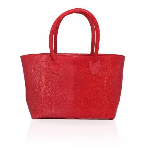 Monza Stingray Shopping Tote in Red