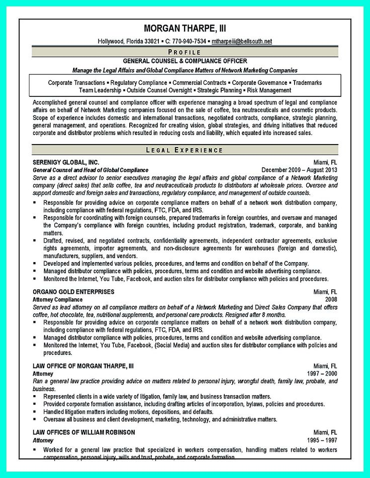 nice Best Compliance Officer Resume to Get Manageru0027s Attention - compliance resume