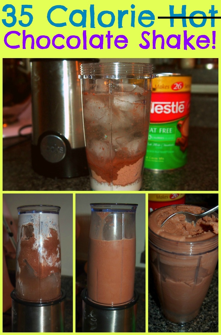 35 Calorie Chocolate Shake! This ENTIRE blog is full of chocolate things for an unbelievably small amount of calories.