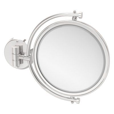 Allied Brass Wall Mounted Makeup Mirror with 4X Magnification - WM-4/4X-PC