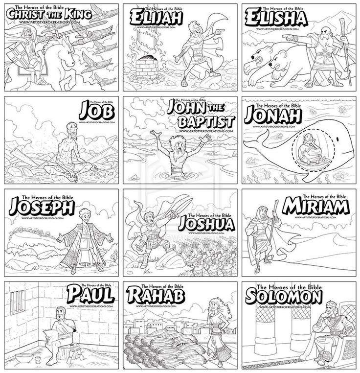 Coloring pages of The Heroes of the Bible II by ~ArtistXero on deviantART