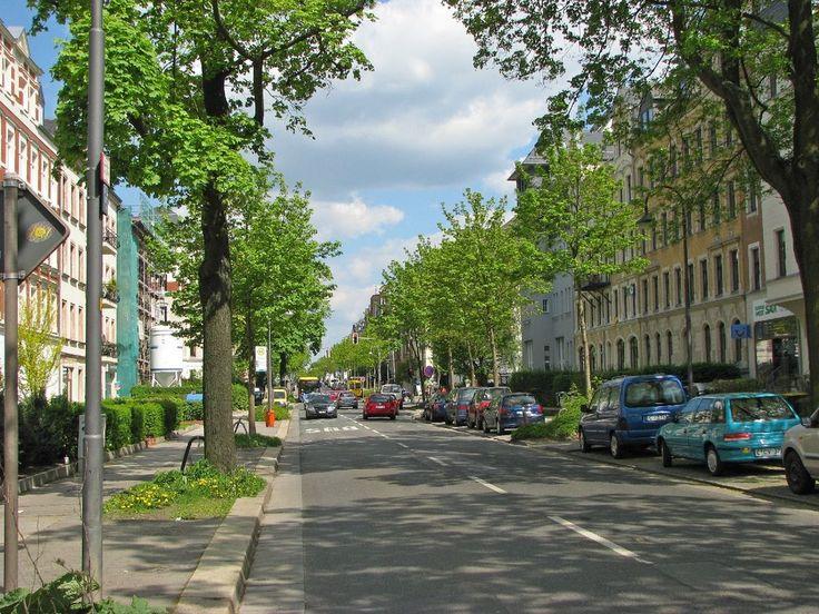 Chemnitz-Kaßberg Weststraße als Hauptmagistrale des Kaßberges,foto-Germany worldmapz.com