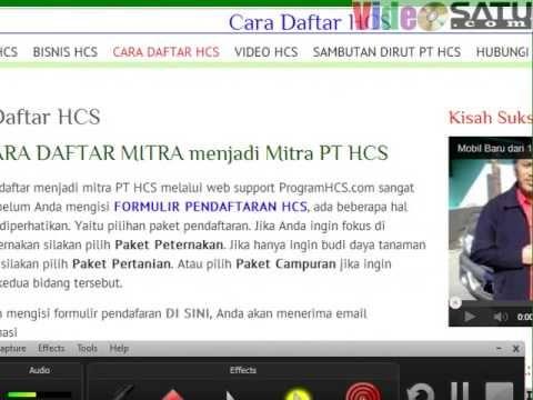 Cara Mendaftar Jadi Mitra PT HCS Online di ProgramHCS.com
