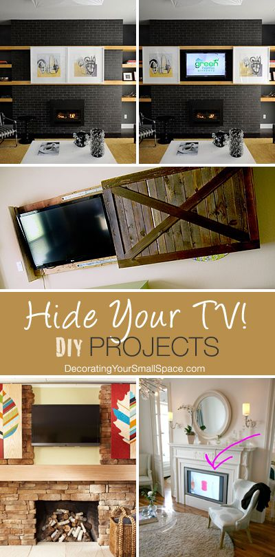Hide Your TV! • DIY Projects • Lots of Ideas & Tutorials!