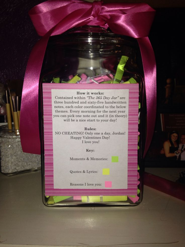 Valentines Day 365 Day Jar My DIY Projects Pinterest