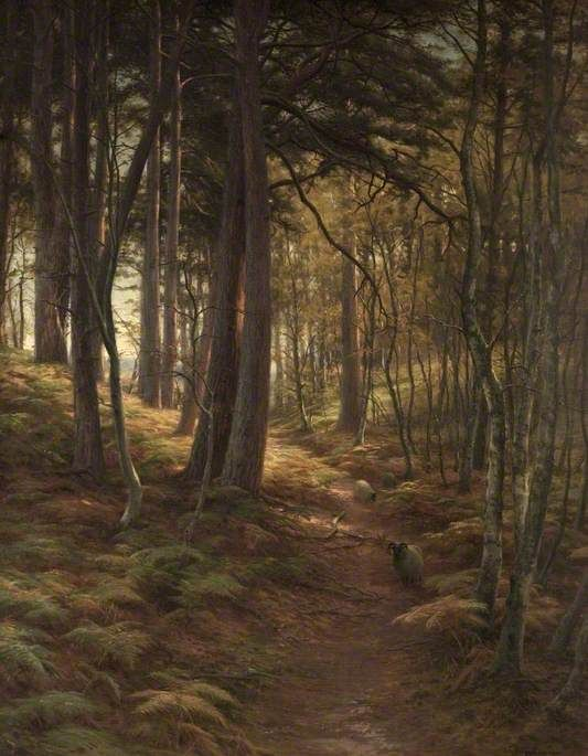 """The Silent Evening Hour"" c.1911 oil  - Joseph Farquharson (1846-1935)"