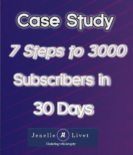 Download this case study and see how she added 3000 subscribers in 30 days