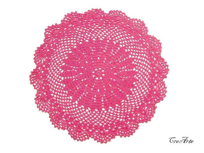 Hot Pink crochet doily