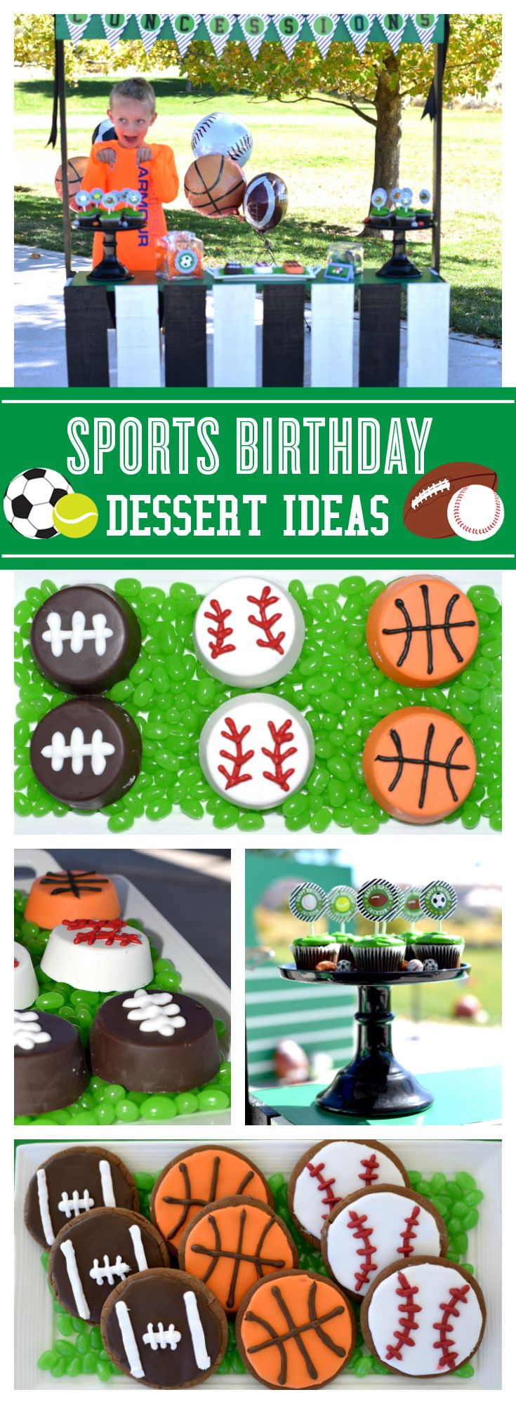 The sweetest Sports birthday dessert ideas!
