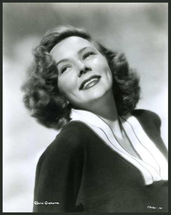 Gloria GRAHAME (1923-1981) * AFI Top Actress nominee. Notable Films: In a Lonely Place (1950); It's a Wonderful Life (1946); Crossfire (1947); The Bad and the Beautiful (1952); Sudden Fear (1952); The Greatest Show on Earth (1952); The Big Heat (1953); Human Desire (1954); Not as a Stranger (1955); Oklahoma! (1955); The Man Who Never Was (1956)