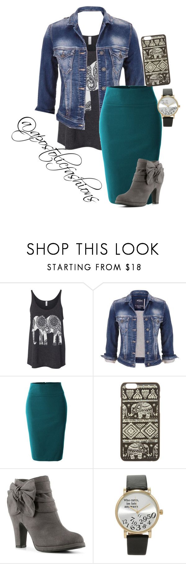"""""""Apostolic Fashions #1410"""" by apostolicfashions on Polyvore featuring maurices, LE3NO, Rampage and Forever 21"""