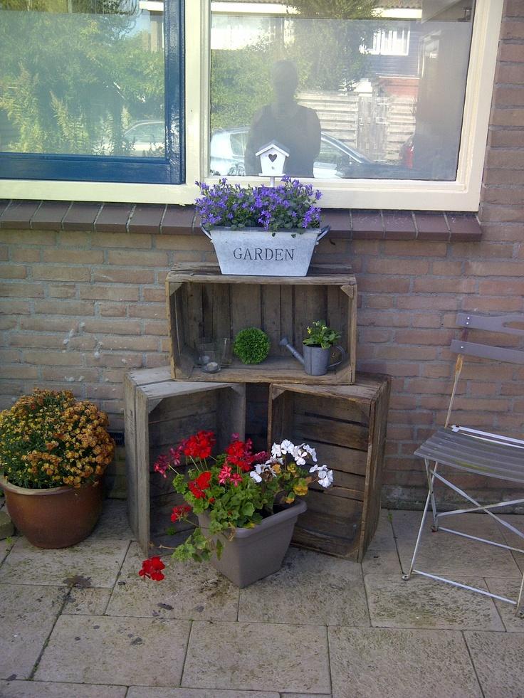 17 beste idee n over bloempotten voor buiten op pinterest buiten potplanten bloempotten en - Idee decoratie terras ...