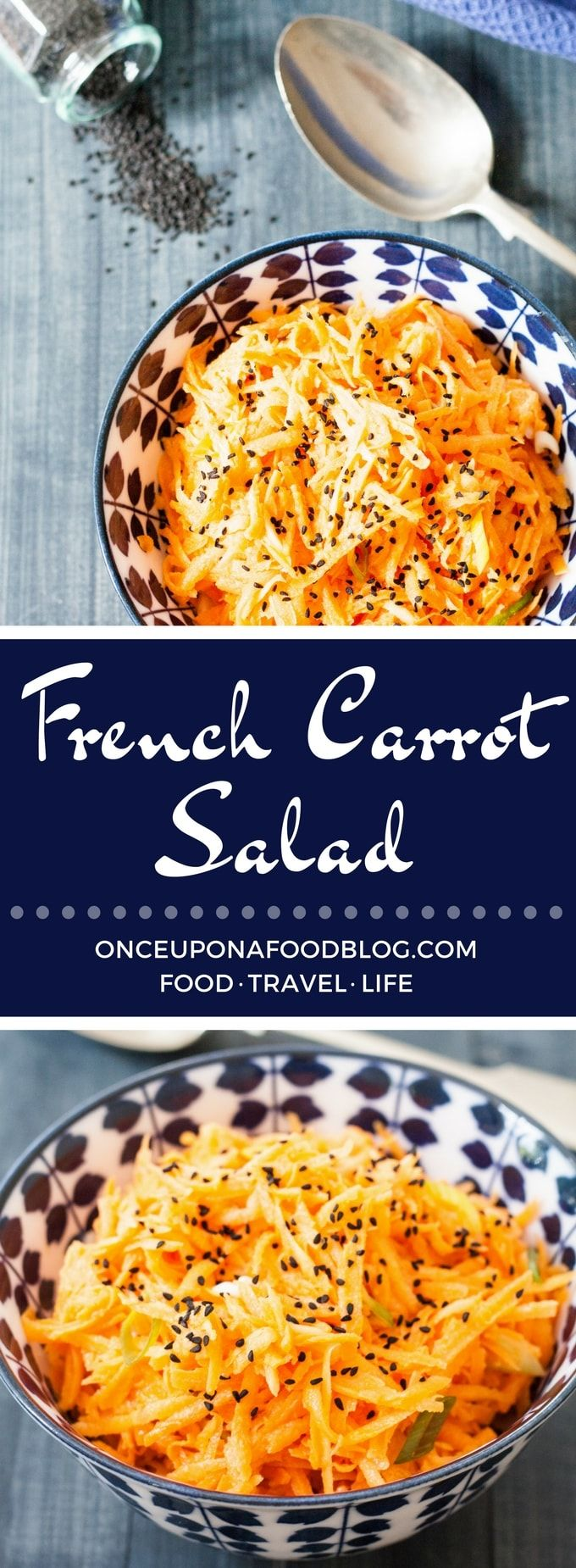 "Originating in France, where it's called carottes râpées, this French Carrot Salad is perfect alongside any simply cooked meat or fish."" width="