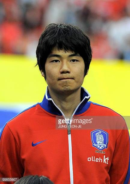 South Korean national football team midfielder Ki SungYueng during a friendly football match with Ecuador in Seoul on May 16 2010 ahead the FIFA...