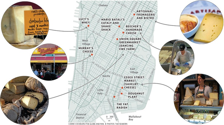 cheese map of NYC