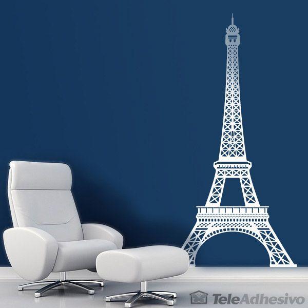 Vinilo decorativo de la Torre Eiffel #teleadhesivo #decoracion #paris #eiffel